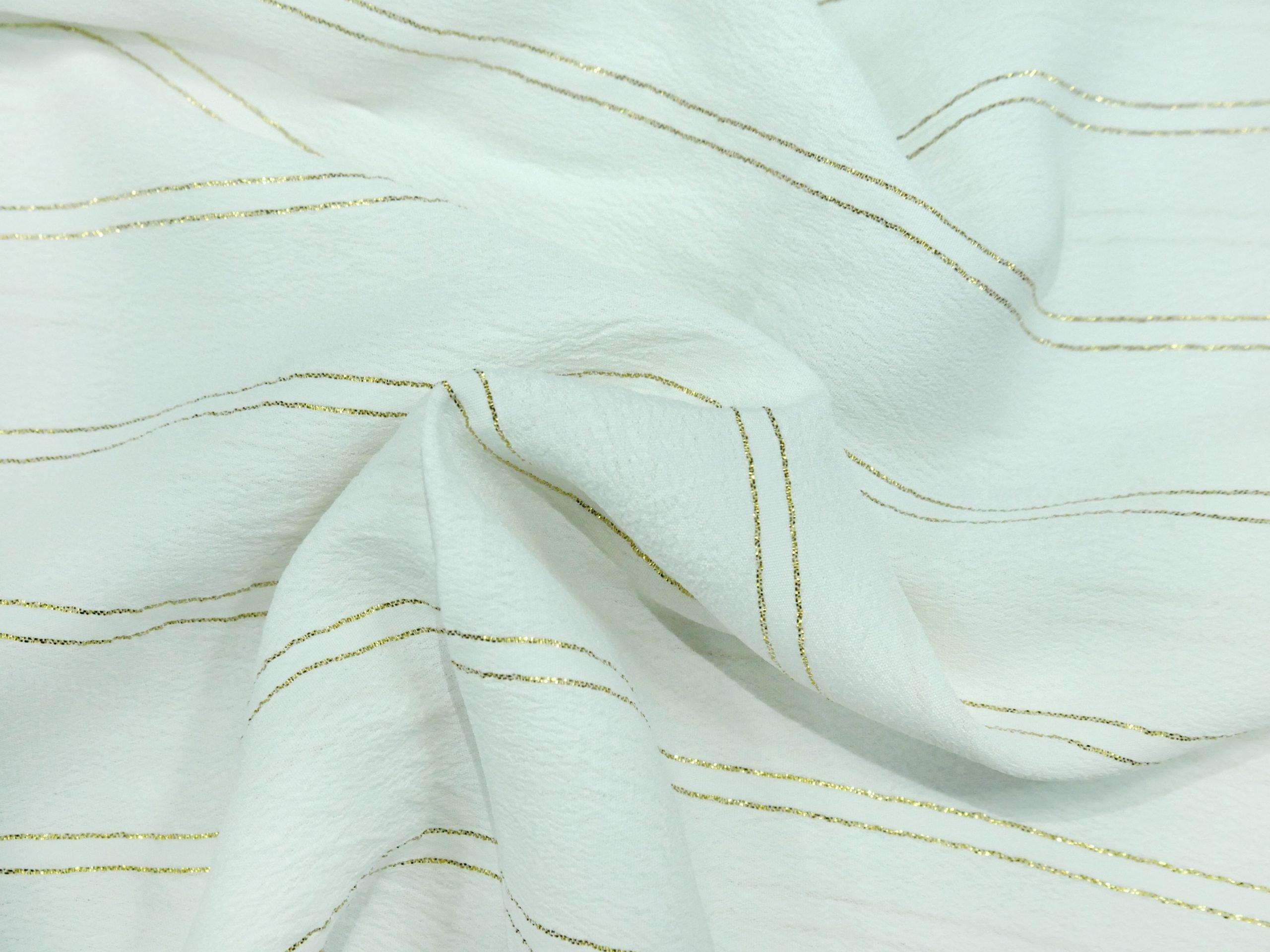 Moss crepe Lurex - Crepe Fabric - Lurex fabric -Cloth - Charu Creation