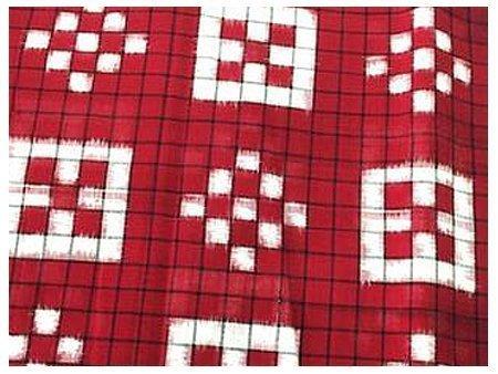 Odisha - Orissa - pasapalli Ikat Saree - double ikat - ikkat - ikat weaving - Charu creation blog - cotton fabric - cotton saree - cotton ikat saree - printed fabric - printed saree - silk ikat saree - silk ikat pasapalli saree - warp ikat - weft ikat - weave - weaving technique - dice - dice saree