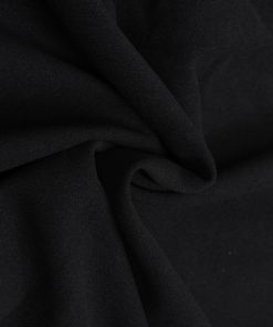Black colour plain felt wool dress material fabric