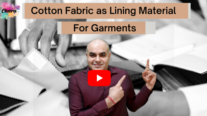 cotton fabric as lining material